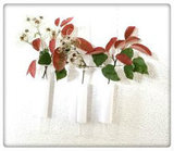 PTMD - Vigo white Glass hanging small vase with fabric s_