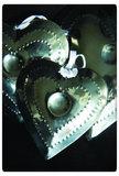 PTMD - Aluminium shiney heart diamond s_