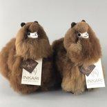 Inkari - Alpaca stuffed animal Choco cream S
