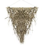 Mars & more - Wall hanging braided palm leaf triangle 75cm