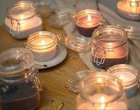 Rustik Lys - Pickle jar Candle Linen M