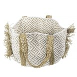 Mars & more - Bag jute cotton white with fraying