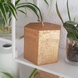 Rustik Lys - Candle Hexagon copper metallic