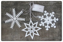 House Doctor - Ornament Star/Snowflake Small s/3