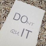 AfroDutchPaperStone - Kaart Dont quit