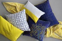 Broste Copenhagen - Cushion cover Frio w/filling vibrant yellow