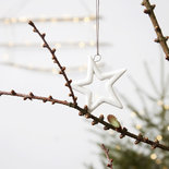 House Doctor - Ornament Star open White