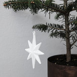 House Doctor - Ornament Star White with glitter