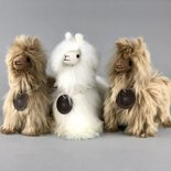 Inkari - Alpaca stuffed animal Suri ivory Small
