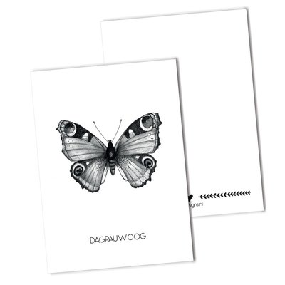 BDdesigns - Card Peacock butterfly