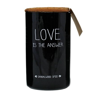 My flame - Soy candle Love is the answer Sandelwood spice