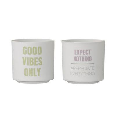 Bloomingville - Votive Good vibes s/2