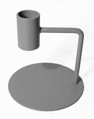 Branded By - Candle holder Curve grey S