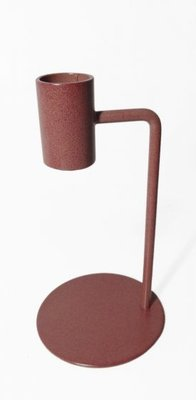 Branded By - Candle holder Curve brown/pink