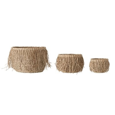 Bloomingville - Basket Seagrass Nature set of 3