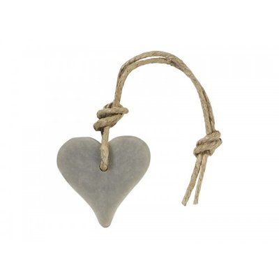 Mijn Stijl - Soap Heart light grey cotton