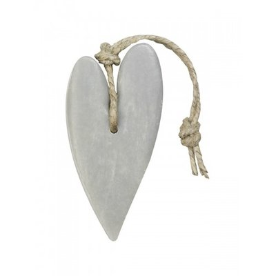 Mijn Stijl - Soap Heart XL light grey cotton