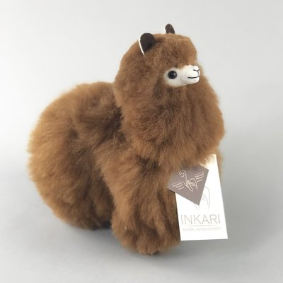 Inkari - Alpaca stuffed animal Walnut S
