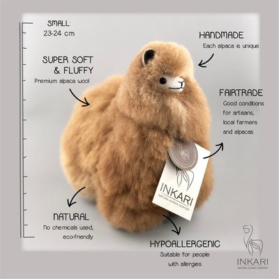 Inkari - Alpaca stuffed animal Hazelnut S