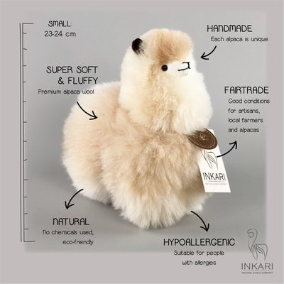 Inkari - Alpaca stuffed animal Sahara S