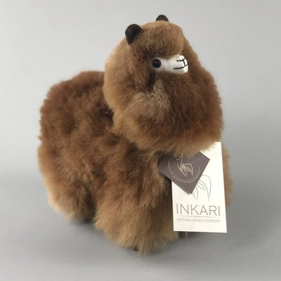 Inkari - Alpaca stuffed animal Choco cream S