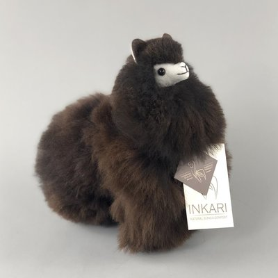 Inkari - Alpaca stuffed animal Cacao S