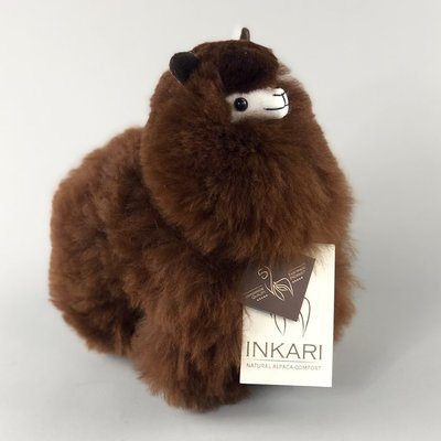 Inkari - Alpaca stuffed animal Chocolate S