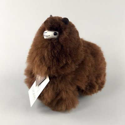 Inkari - Alpaca stuffed animal Chocolate S
