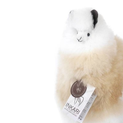 Inkari - Alpaca stuffed animal Ivory blond M