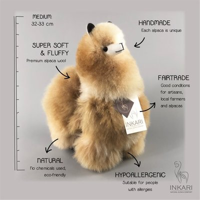 Inkari - Alpaca stuffed animal Sandstone M