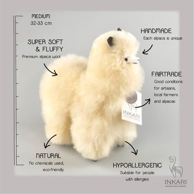 Inkari - Alpaca stuffed animal Blond M