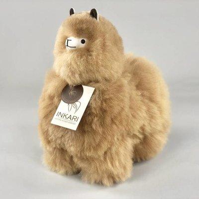 Inkari - Alpaca stuffed animal hazelnut M