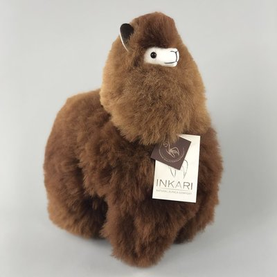 Inkari - Alpaca stuffed animal Choco cream M