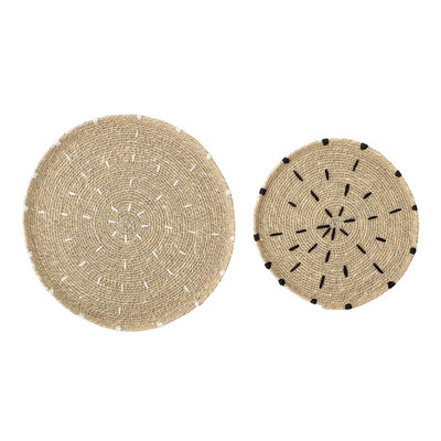 Bloomingville - Plate Seagrass Nature set of 2