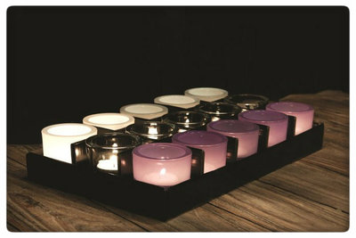 PTMD - gift set 15 small Glass pots in 3 colours