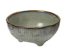 Broste Copenhagen - Bowl 'Nordic Sea' Stoneware w/3 small feet sea B