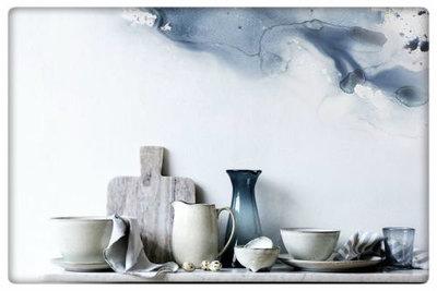 Broste Copenhagen - Bowl 'Nordic Sand' square Stoneware