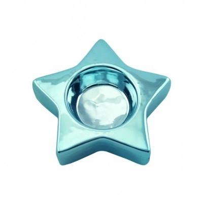 Casablanca - Theelicht ster glanzend blauw
