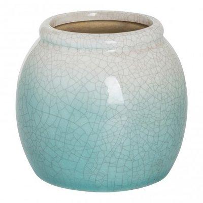 PTMD - Jamaican blue ceramic former pot s