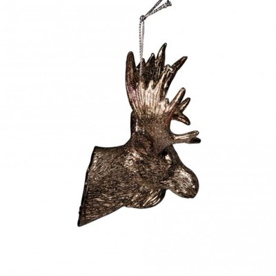 PTMD - Christmas bronze poly hanging deer head