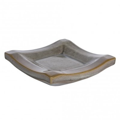 PTMD - Zippy green ceramic plate square L