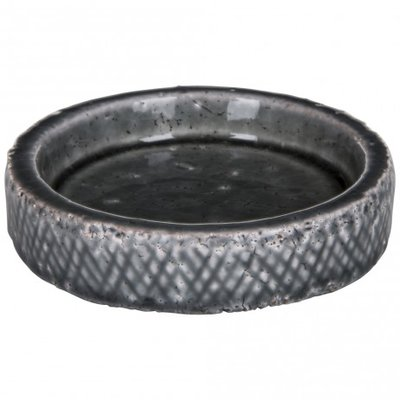 PTMD - Oath grey ceramic round plate s