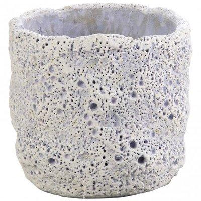 PTMD - Moonrock purple Cement round pot xs