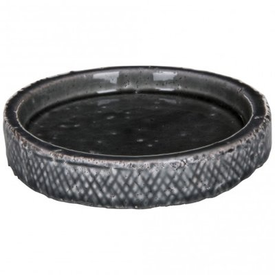 PTMD - Oath grey ceramic round plate L