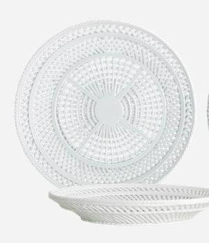 House Doctor - Bowl Net light grey
