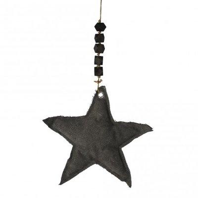 PTMD - Xmas Carol grey fabric hanger star l