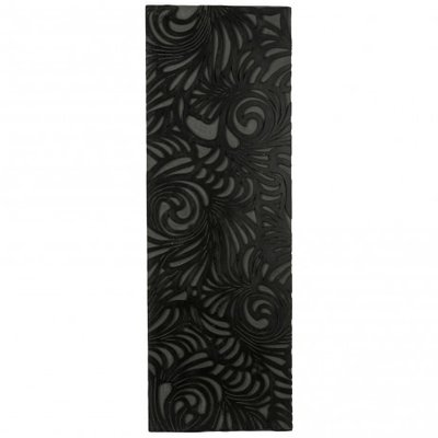 PTMD - Handcraft black wood panel flowers rectangle