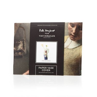 Pepe Heykoop - Paper Vase Cover - Het Melkmeisje van Vermeer