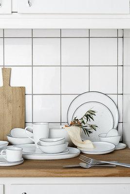 Broste Copenhagen - Salt - Dinner plate w/dots