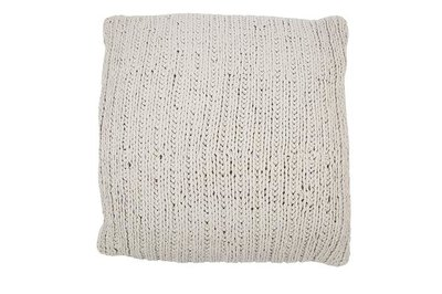 MrsBloom - Knitted Cushion Tours light grey 50x50